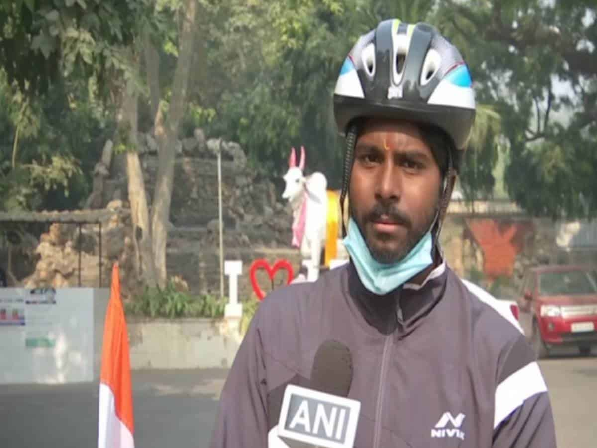 Hyderabad man cycles 1,550 km in an attempt to enter record books