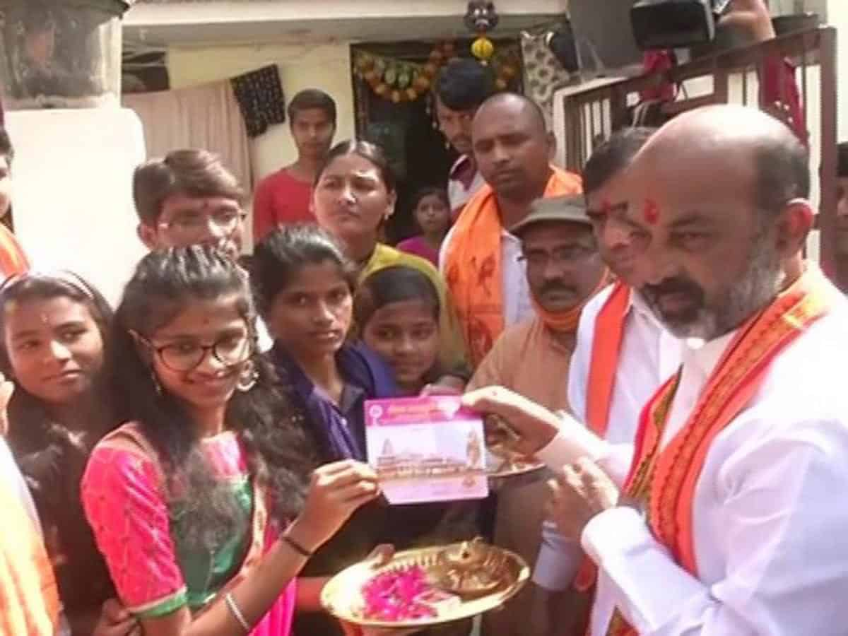 Bandi Sanjay launches program to raise funds for Ram temple