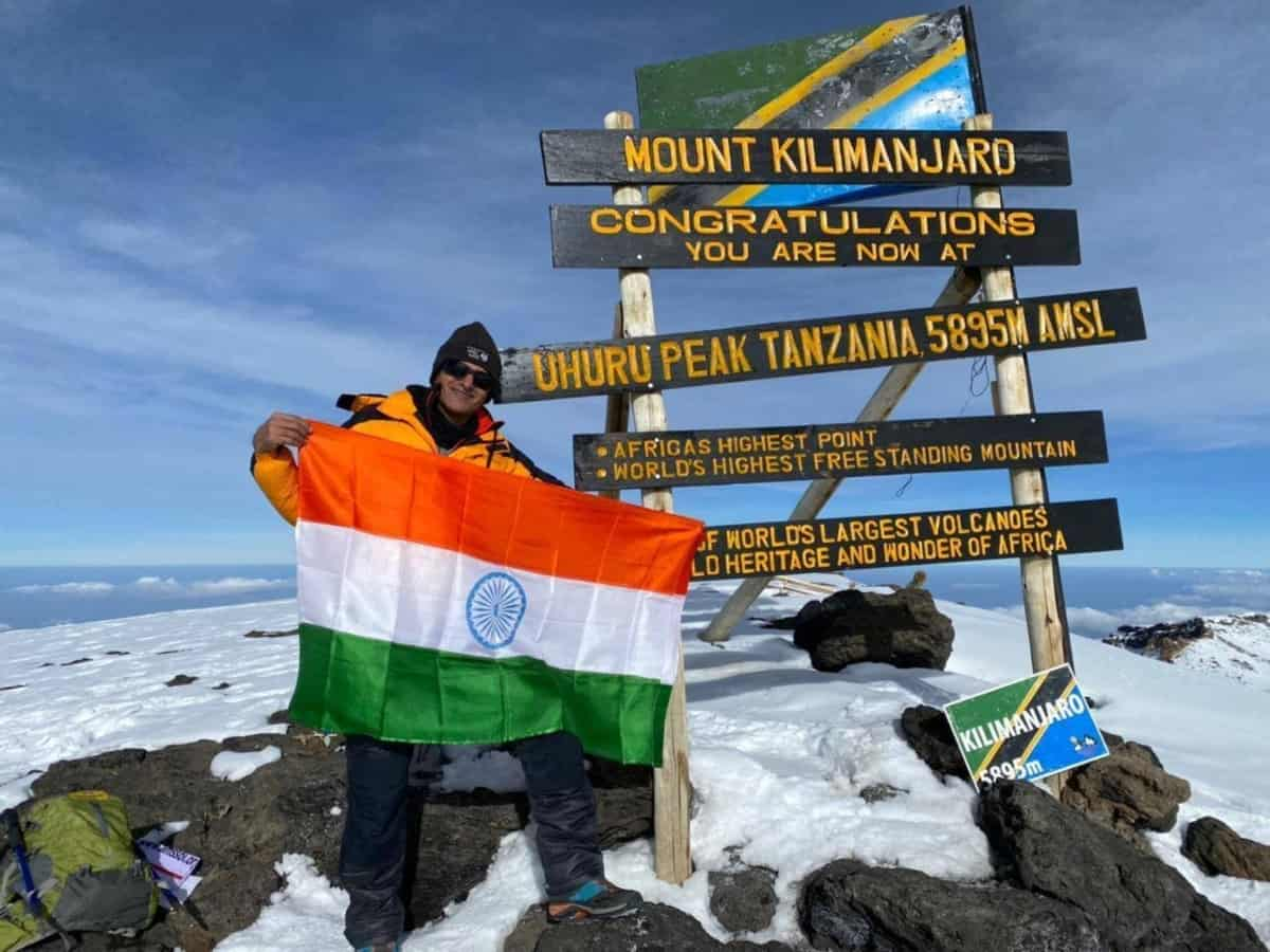 Hyderabad: IPS officer Tarun Joshi scales Mt Kilimanjaro