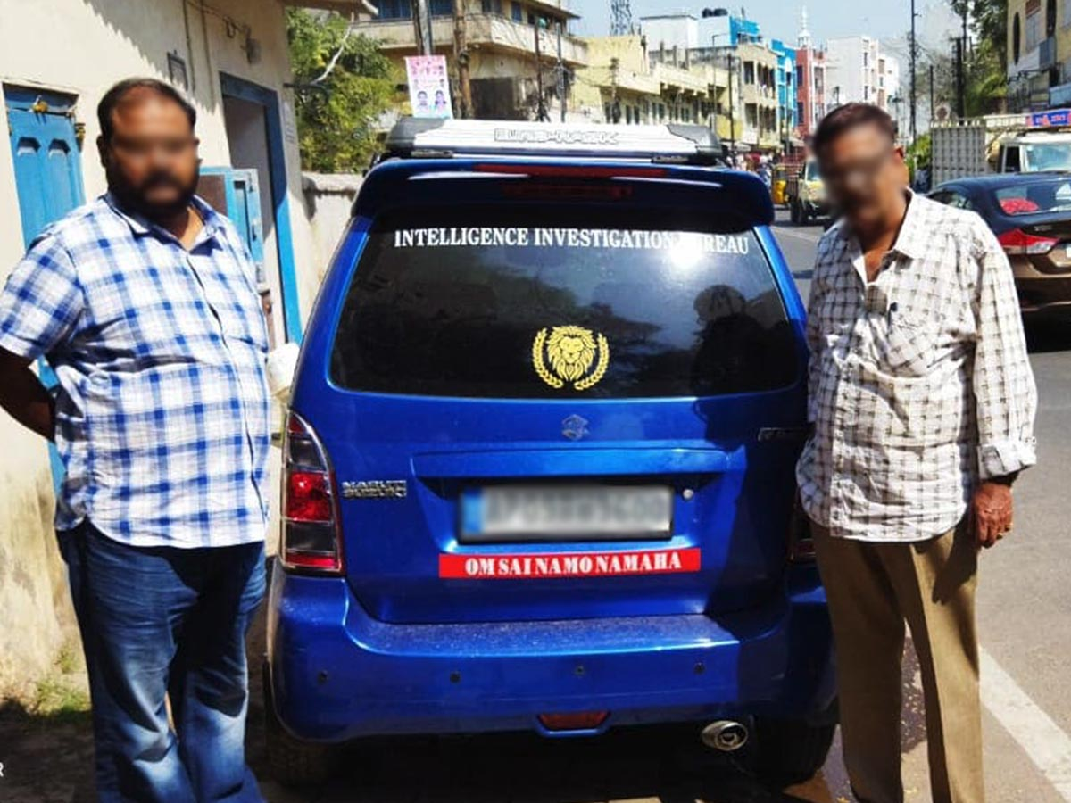 Hyderabad: Father, son held for using fake 'intelligence investigation bureau' sticker on car