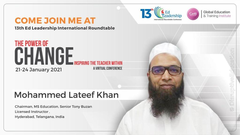 Mohammed Lateef Khan to speak at 13th Ed leadership international conference