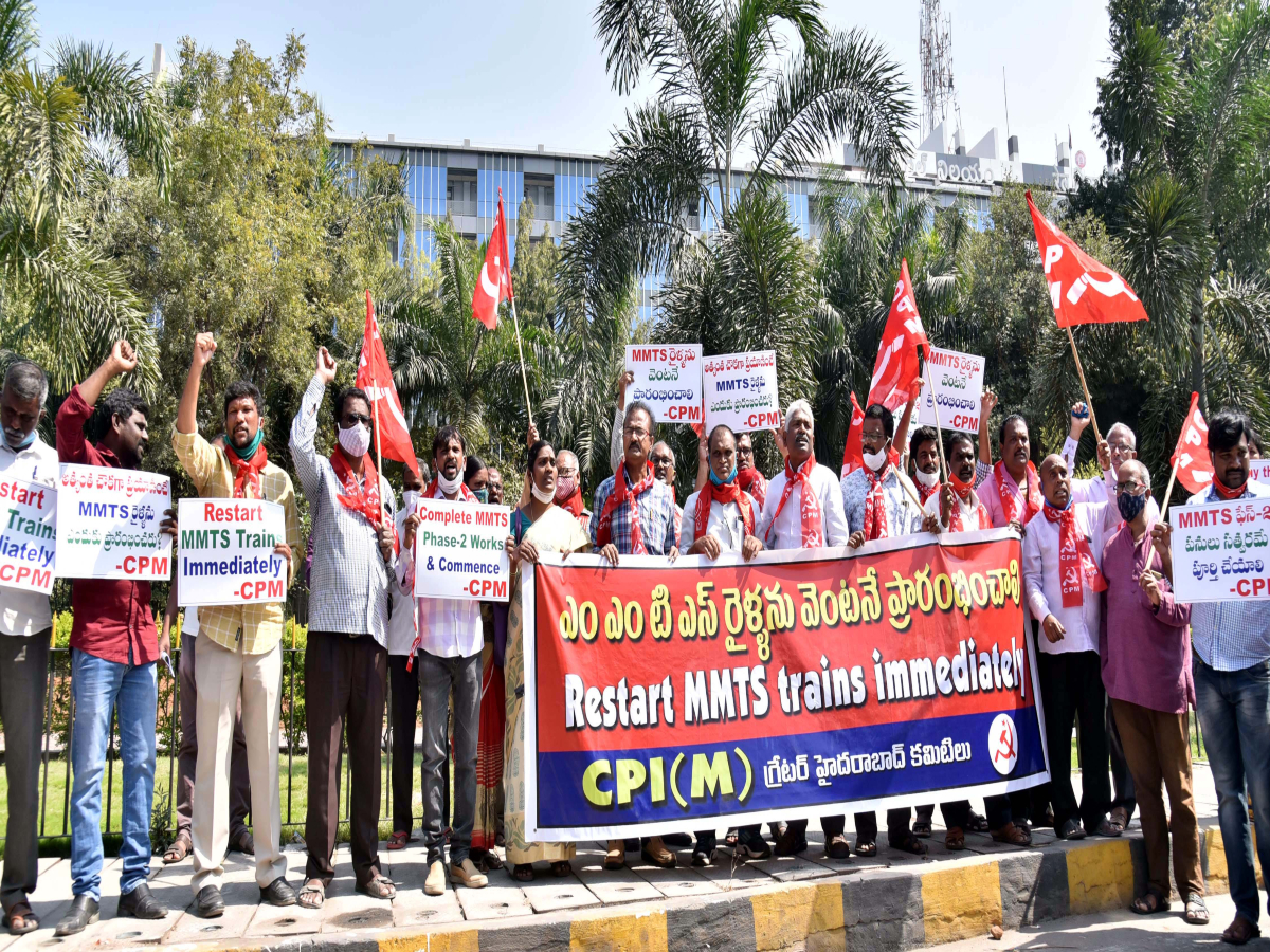 CPM demands resumption of MMTS services in Hyderabad