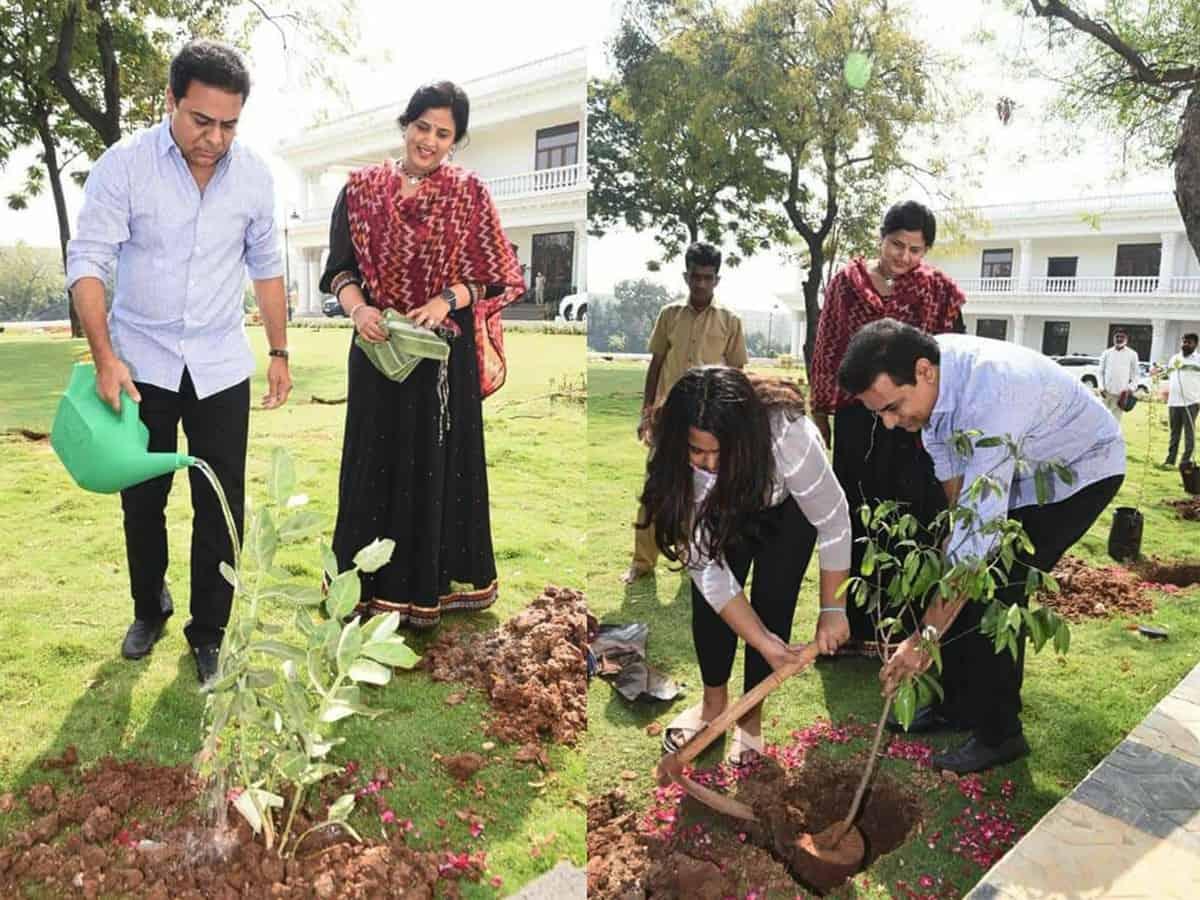 One crore tree plantation drive marks T'gana CM's birthday