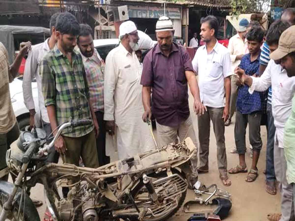 Snake underneath bike cover creates panic in Atmakur
