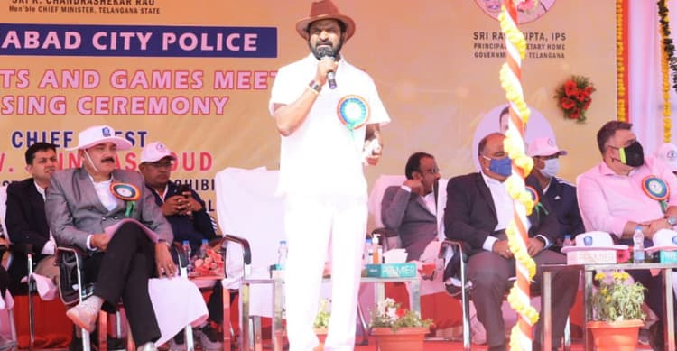 Sports policy soon in police wing : Srinivas Goud