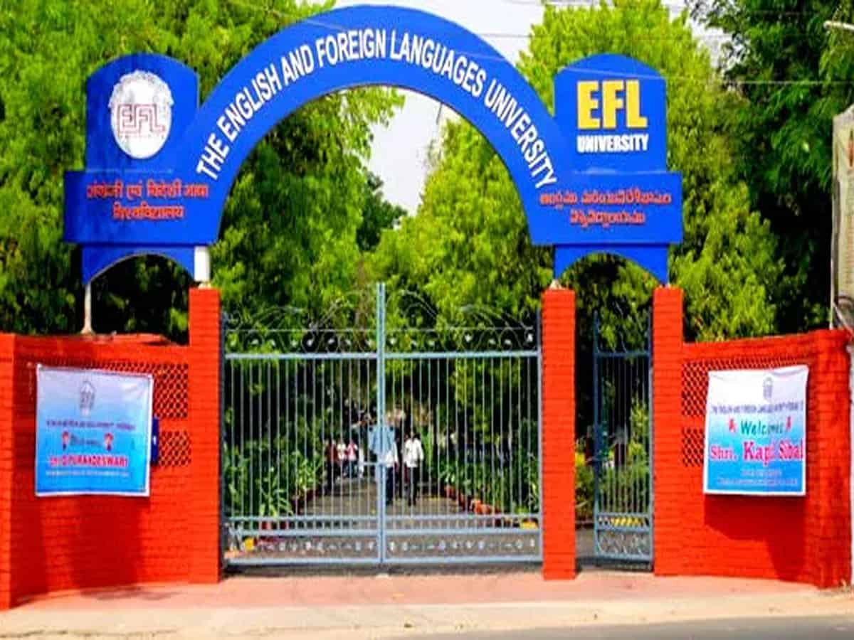 EFLU students stage sit-in protest, demand reopening of hostels, libraries