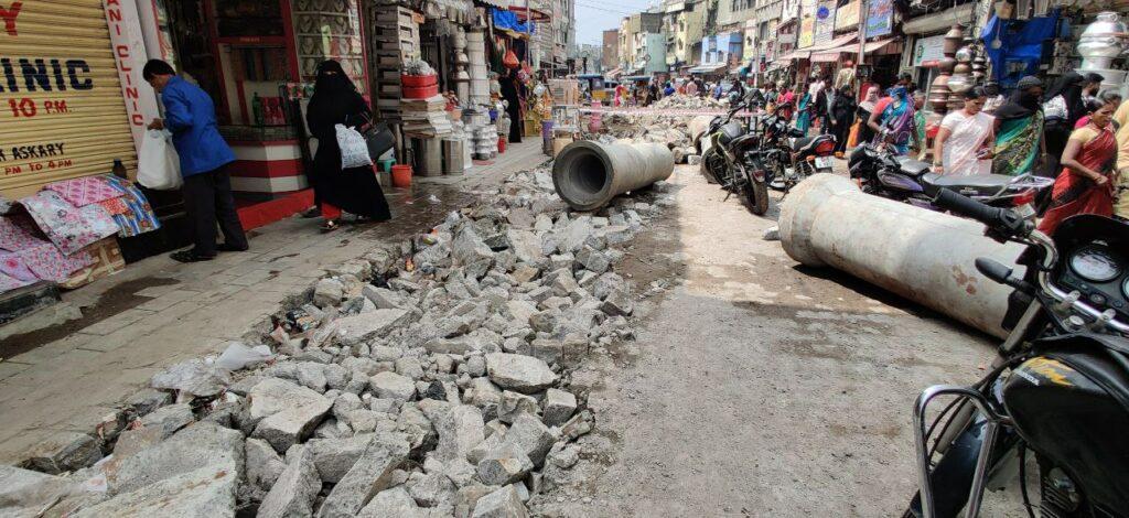 Fearing damage to Charminar, ASI halts pipeline work at Laad Bazaar