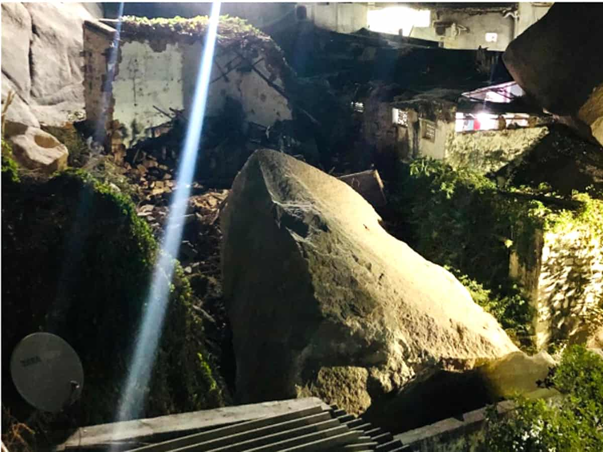 Hyderabad: Panic grips Ahmed Nagar after rocks fall on houses