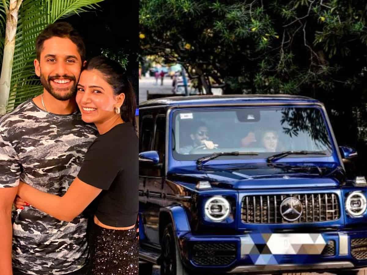 Naga Chaitanya, Samantha take swanky benz ride in Hyderabad, see pics