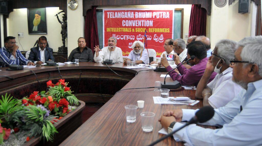 Telangana Bhoomi Putra JAC meeting held at Nampally