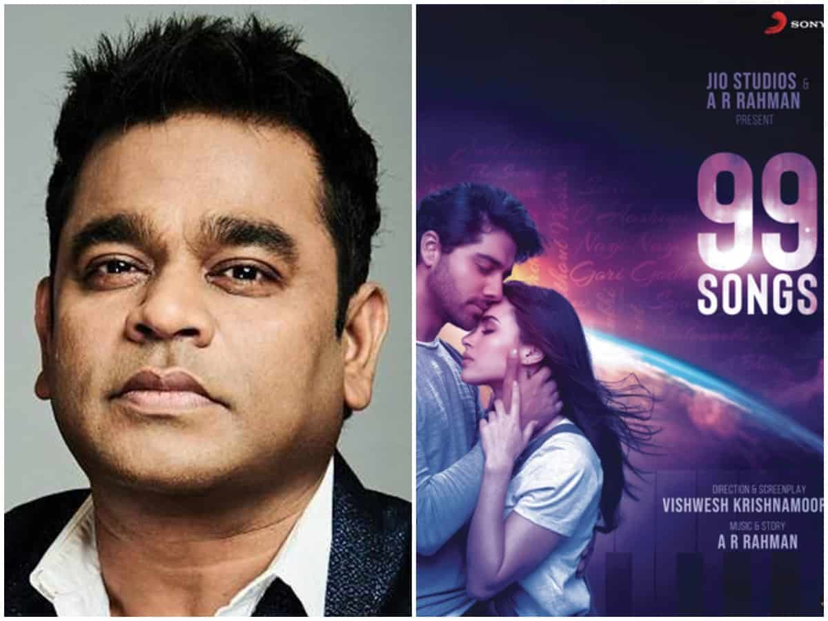 AR Rahman turns producer with'99 Songs'; says it is about one man's struggle against the old and new world