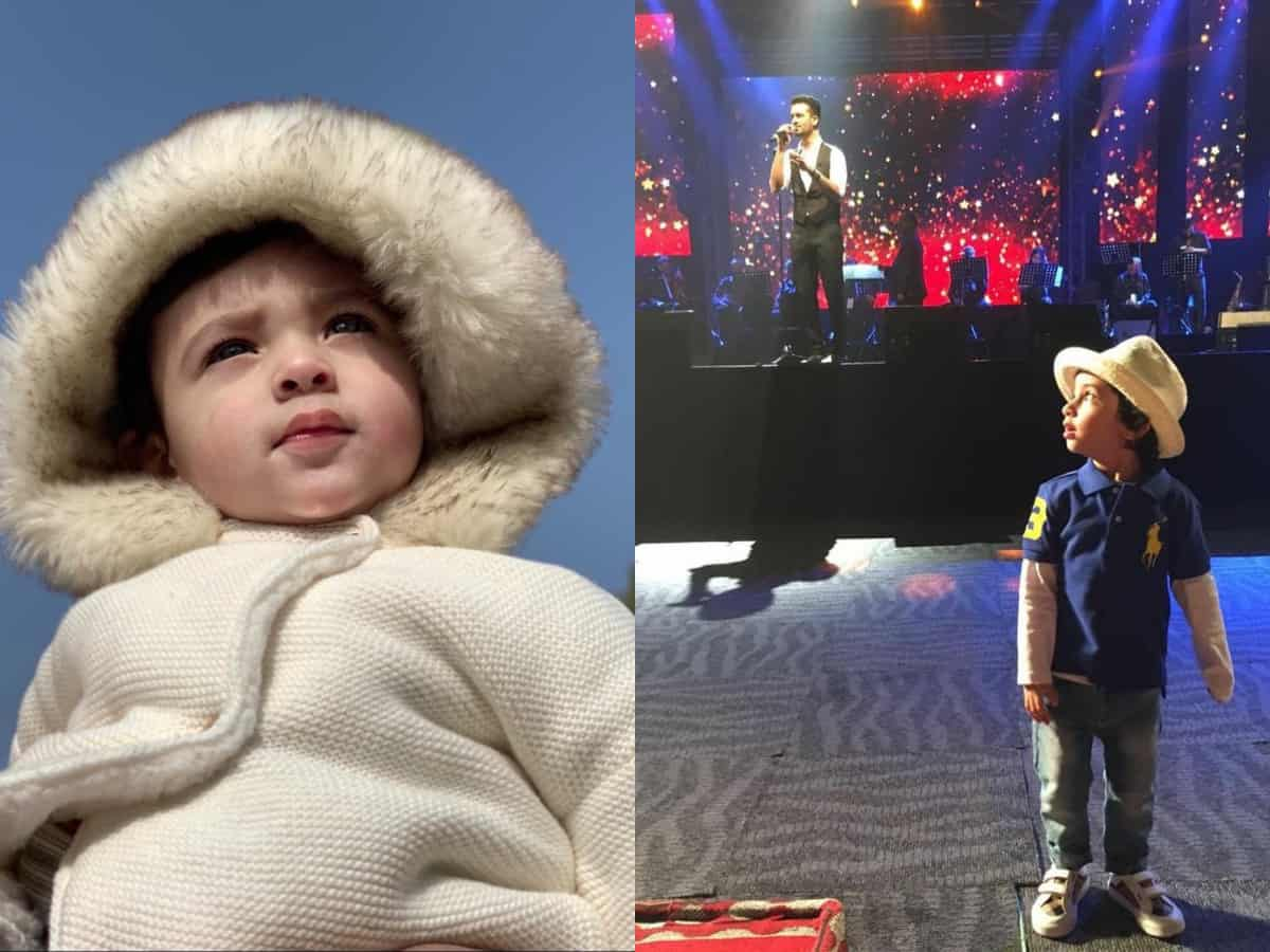 Viral pics: Pak singer Atif Aslam's sons are internet's current favourite