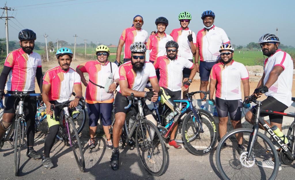 Actress Lakshmi Manchu cycles 100 km to raise funds for AMF