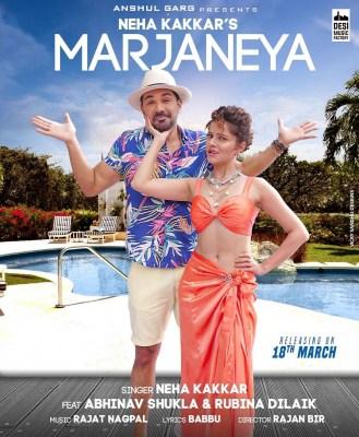 Neha Kakkar shares first look of Rubina-Abhinav's music video 'Marjaneya'
