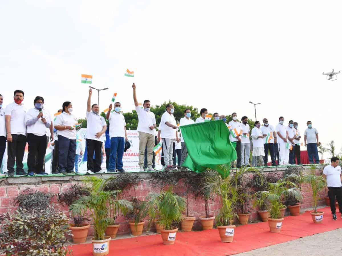 'Azadi Ki Amrut Mahotsav' freedom run held in Hyderabad