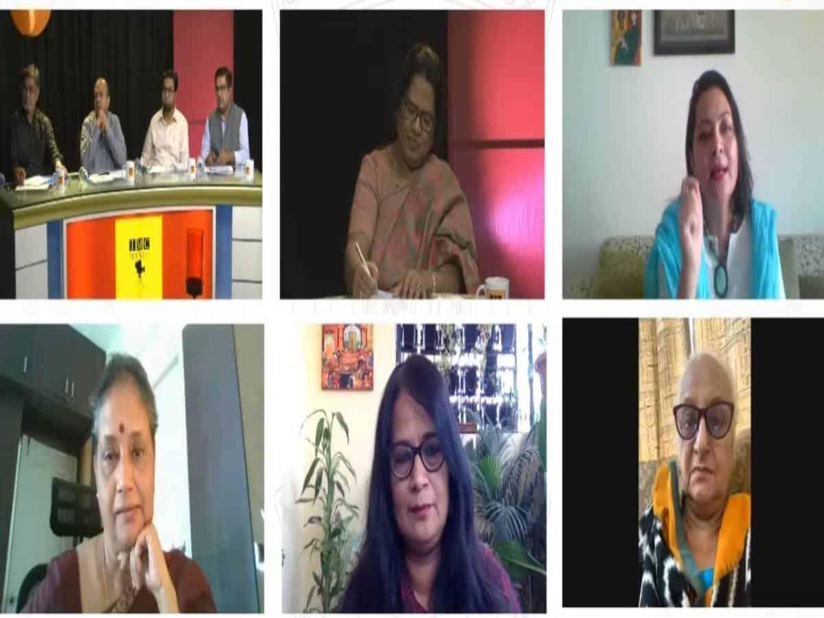 Speakers rue lack of women representation in media in Webinar held at MANUU