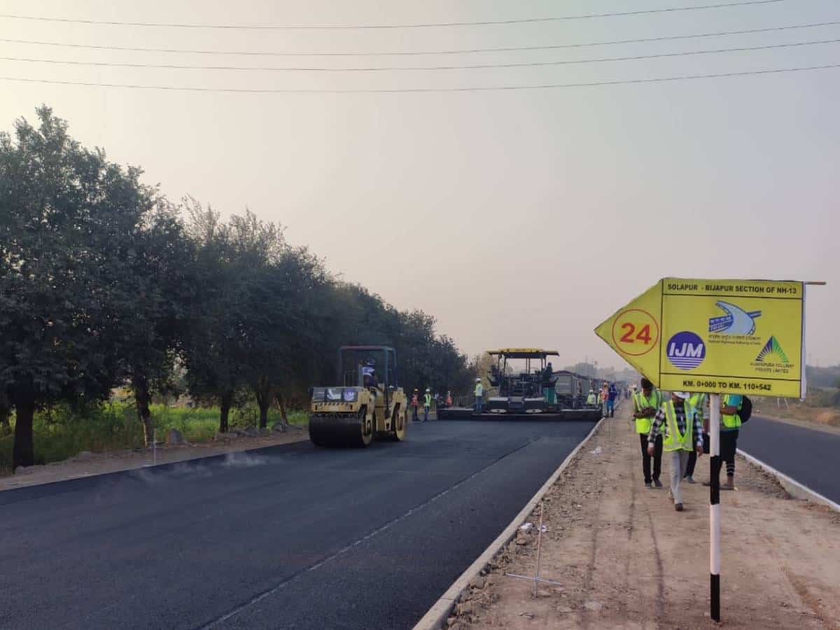 Hyderabad-based construction firm sets record by laying 25.54 km lane in 18 hours