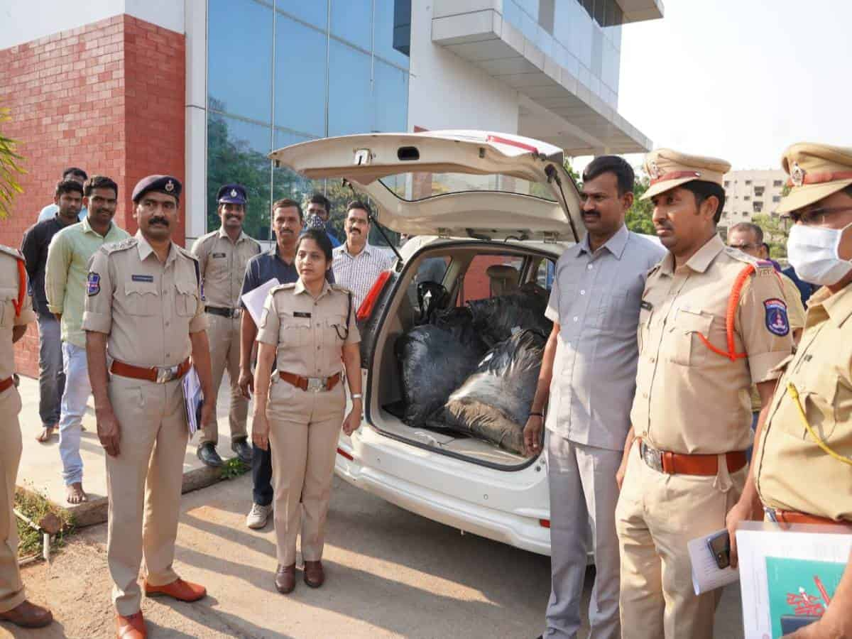 Hyderabad: Drugs worth Rs 8.50 crore seized, three including cop held