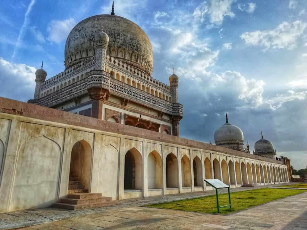 The glory of Qutub Shahi tombs being restored