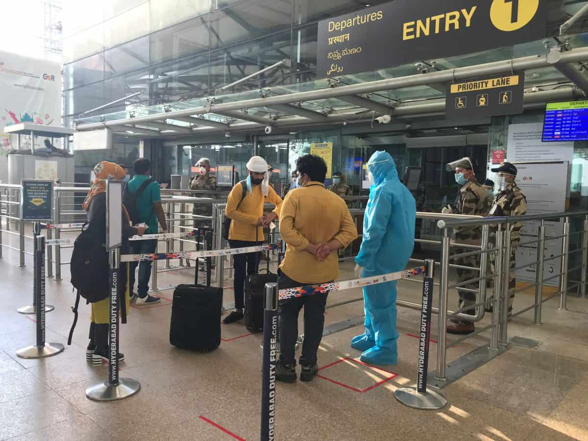 Some flyers with negative report test COVID positive at Hyderabad airport