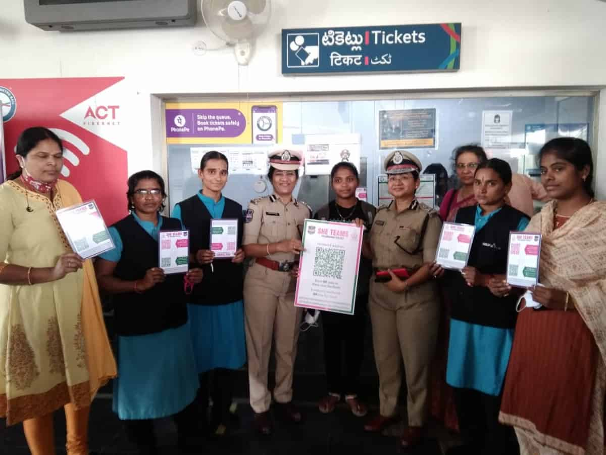 Hyderabad: SHE Team launches QR Code at metro stations for women's safety