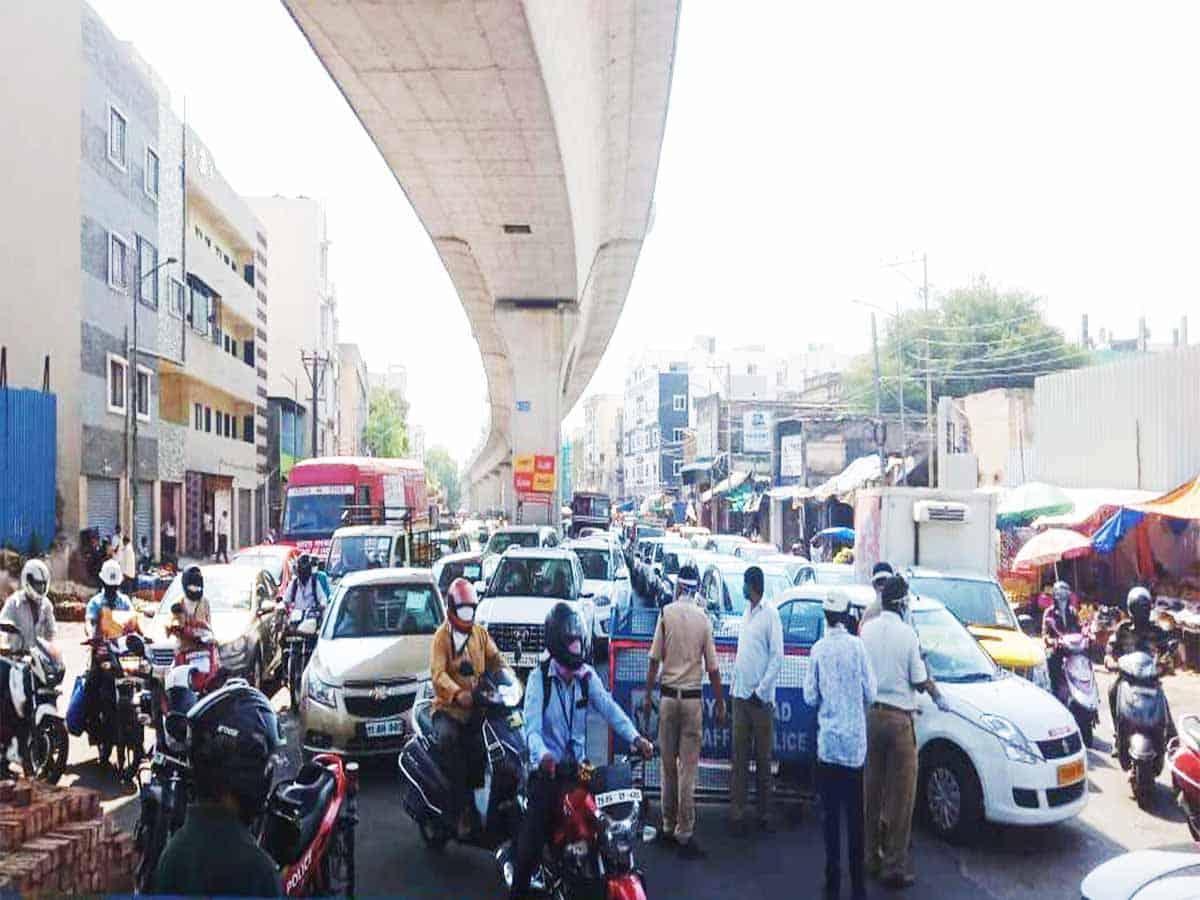 Cyberabad police releases traffic advisory ahead of work at Narsingi village