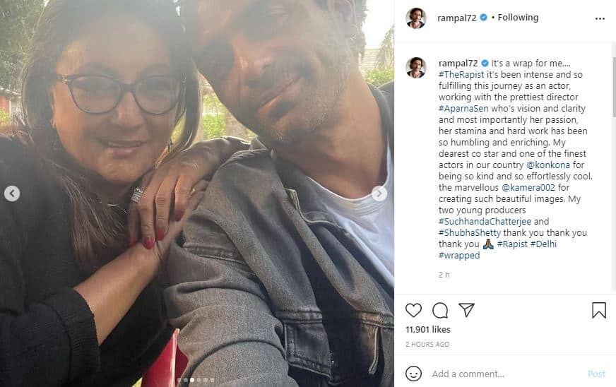 Arjun Rampal wraps shooting for Aparana Sen directorial 'The Rapist'