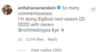 Anita Hassanandani agrees to take part in Bigg Boss 15, courtesy Sidharth Shukla