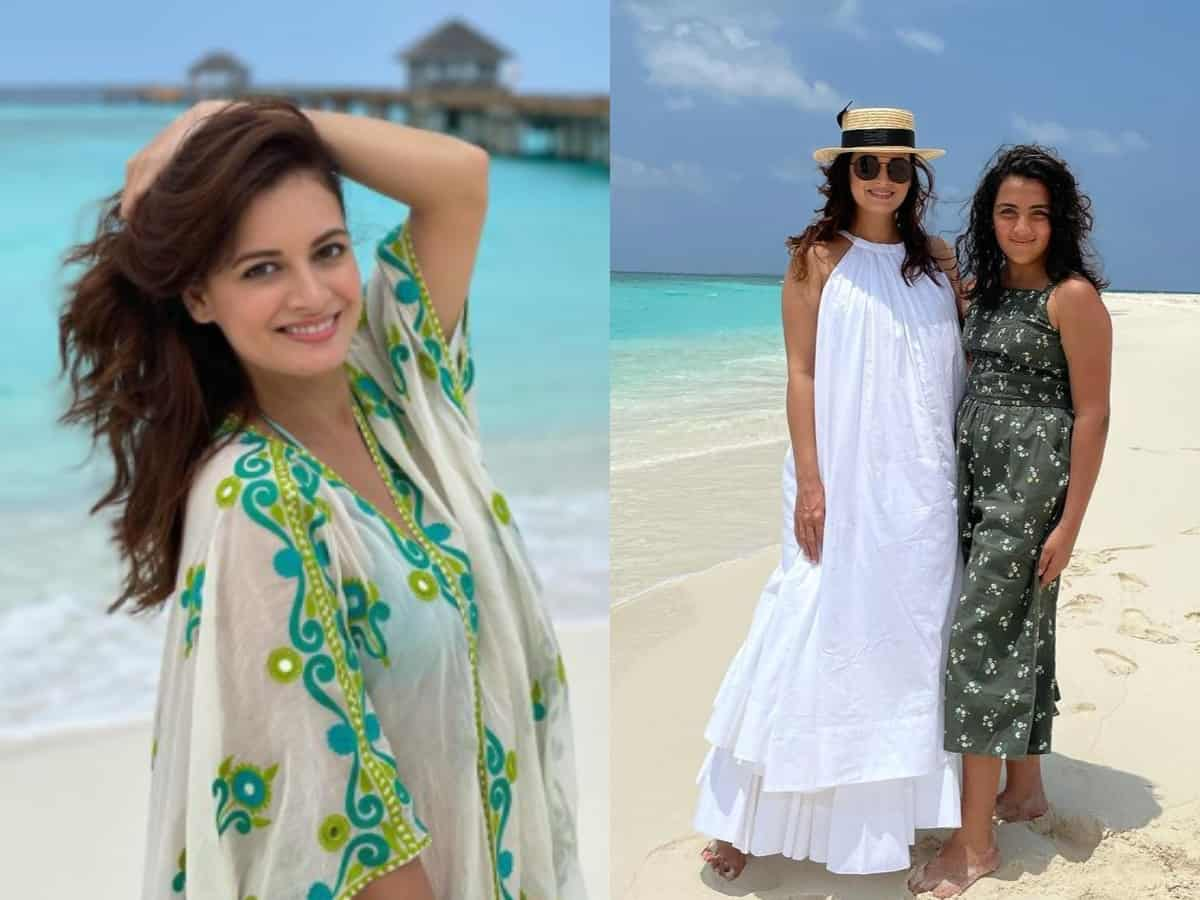 Vaibhav Rekhi turns photographer for wife Dia Mirza, her step-daughter in Maldives