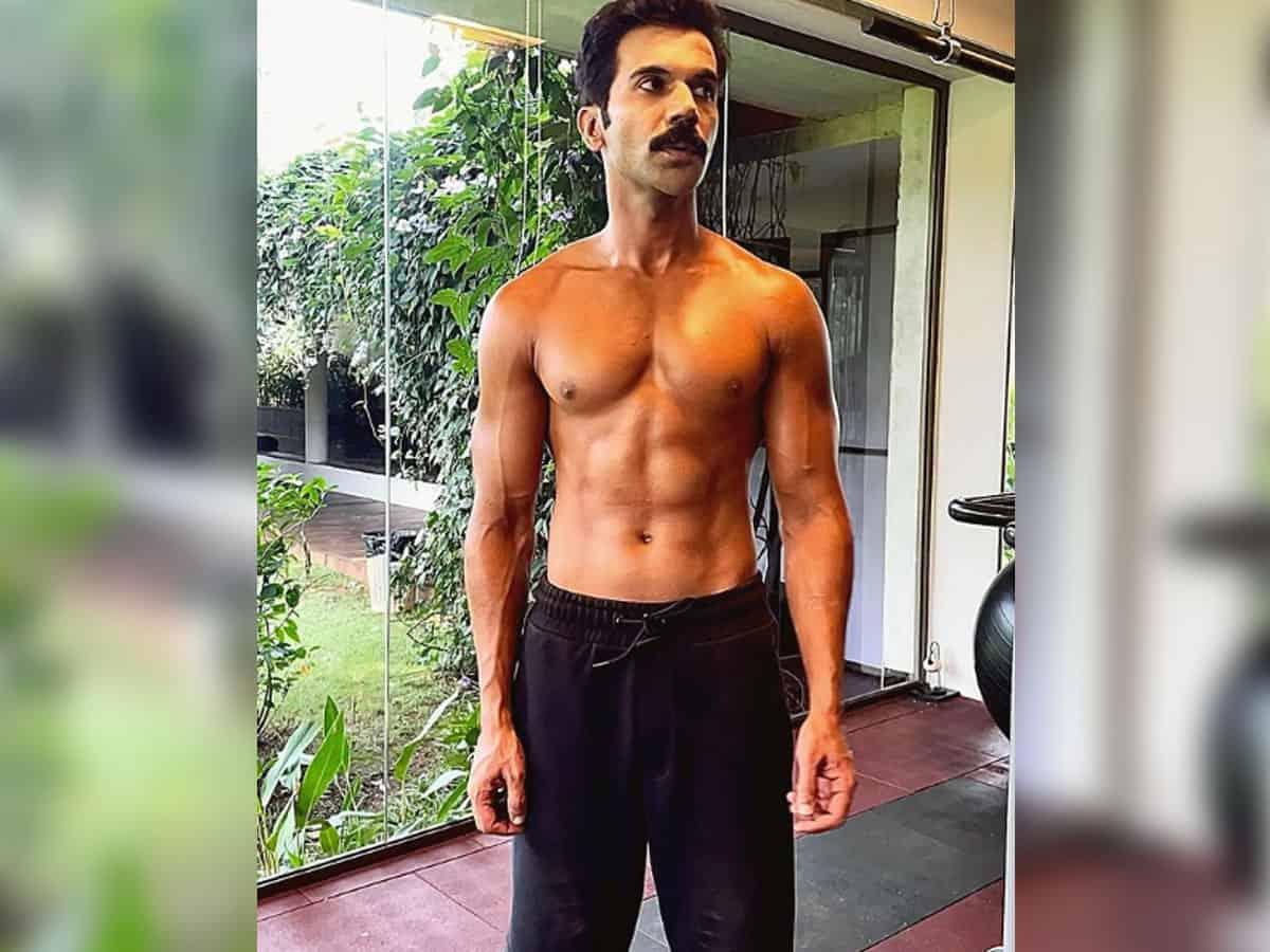 Rajkummar Rao flaunts washboard abs
