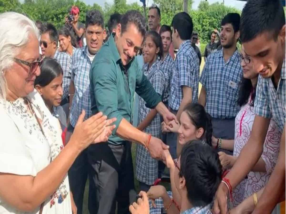 Watch: Salman Khan dances with group of differently abled kids