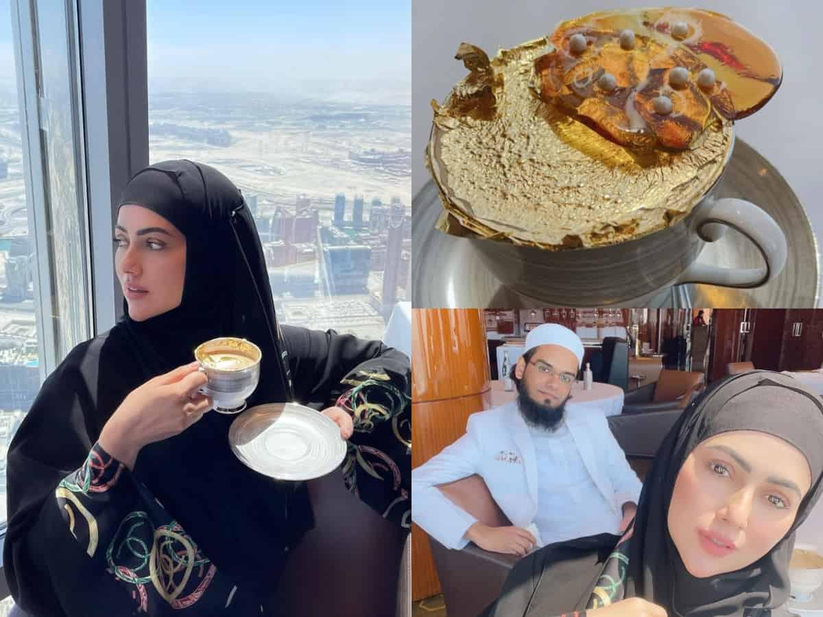 Sana Khan enjoys her lavish breakfast with husband Mufti Anas at Burj Khalifa