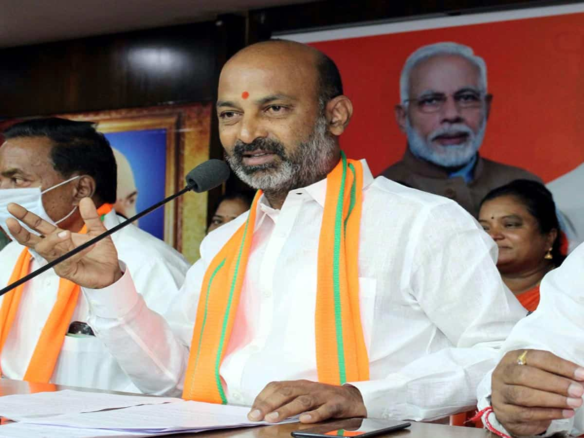 MLC polls: TRS party threatened graduate voters alleges Bandi Sanjay