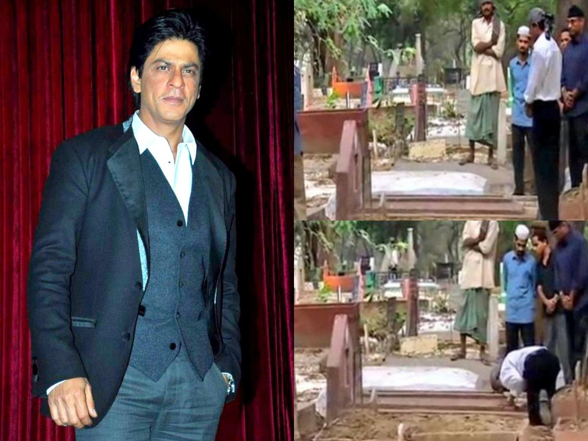 Shah Rukh Khan offers prayers at parents' grave in Delhi, pics go viral