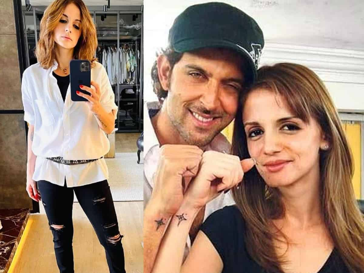 I think am a boy: Sussanne Khan shares 'gender fluid' look in ripped jeans; Hrithik reacts