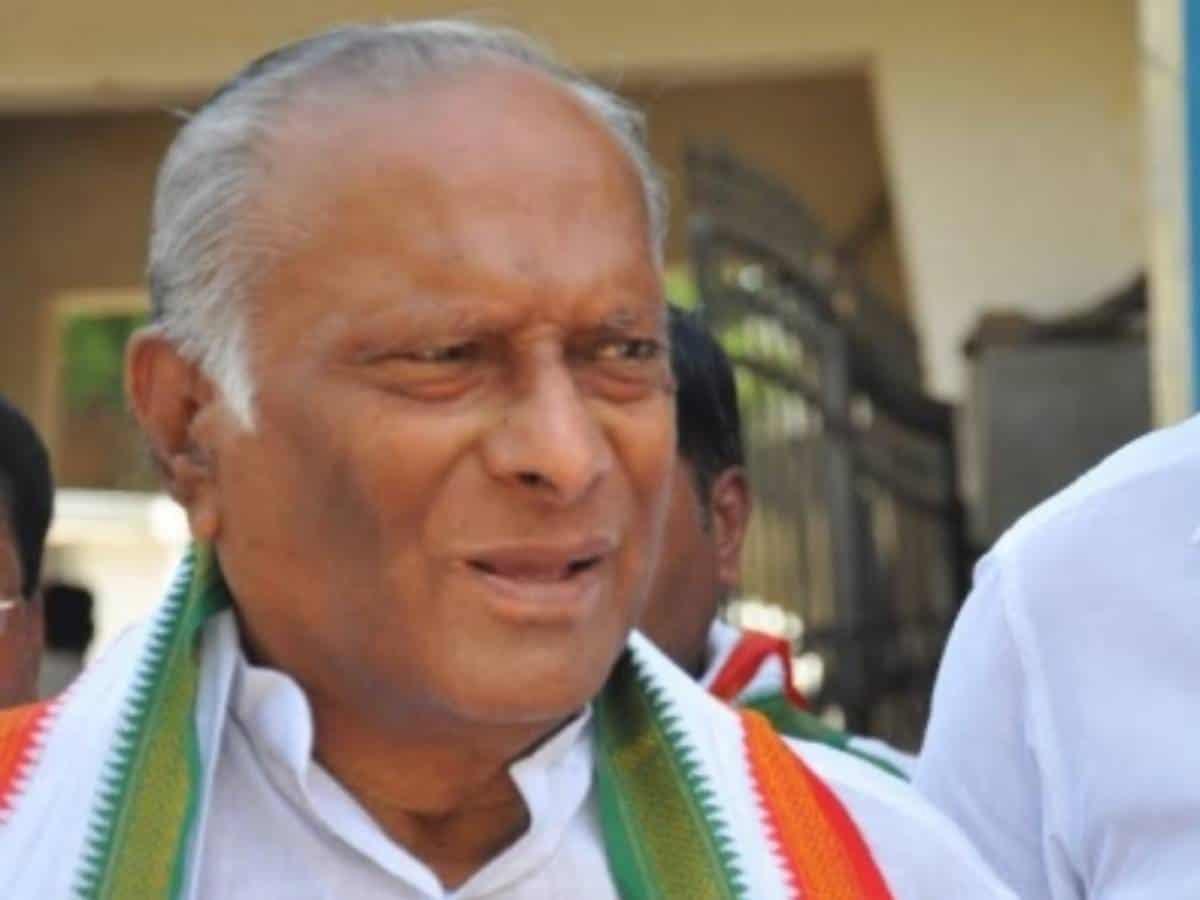 Sr Cong leader Satyanarayana Rao passes away