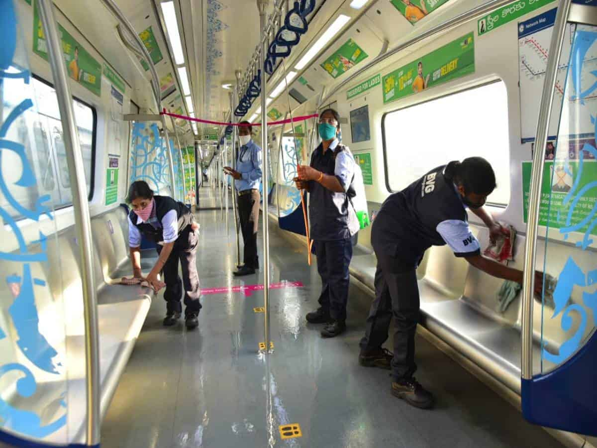 Hyderabad metro rail issues safety protocol in wake of rising COVID cases