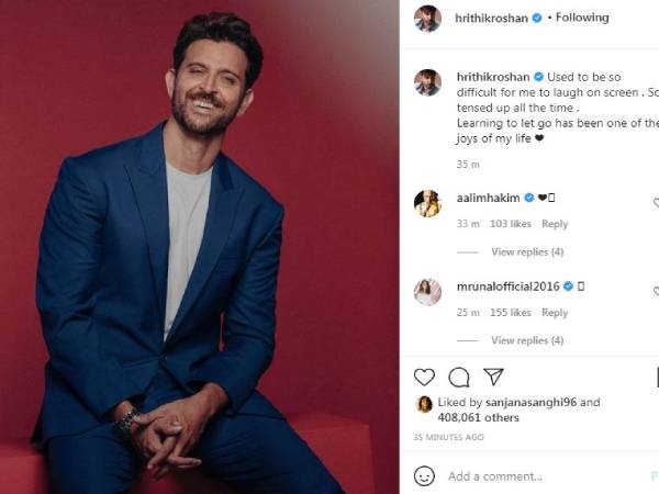 Hrithik Roshan shares he is learning 'to let go' in latest post