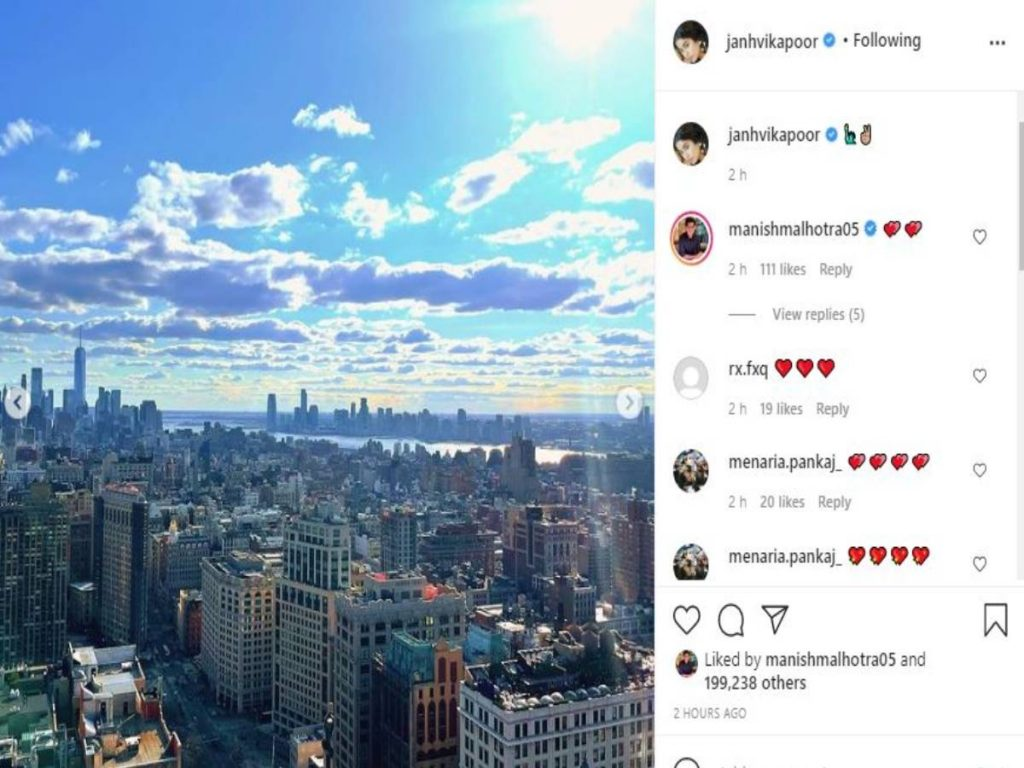 Janhvi Kapoor shares glimpses of NYC outing with sister Khushi Kapoor
