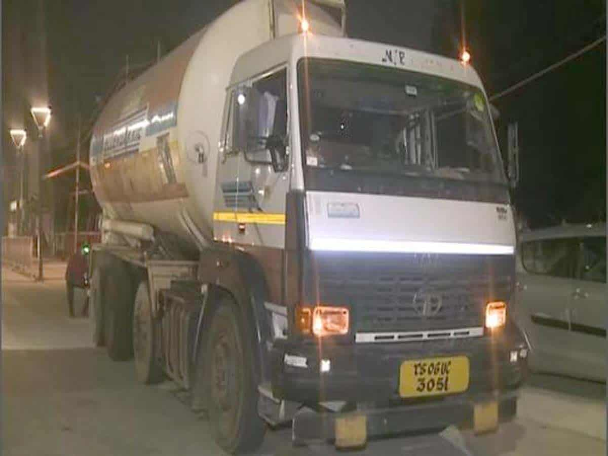 Hyderabad: Oxygen tankers arrive from Odisha