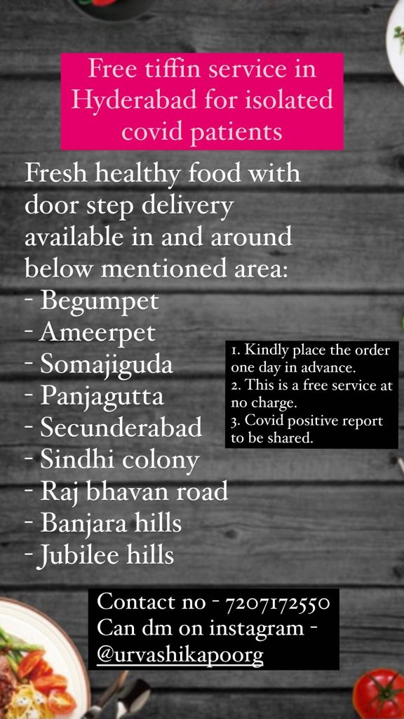 Hyderabadi home chefs offer help to those affected by COVID-19