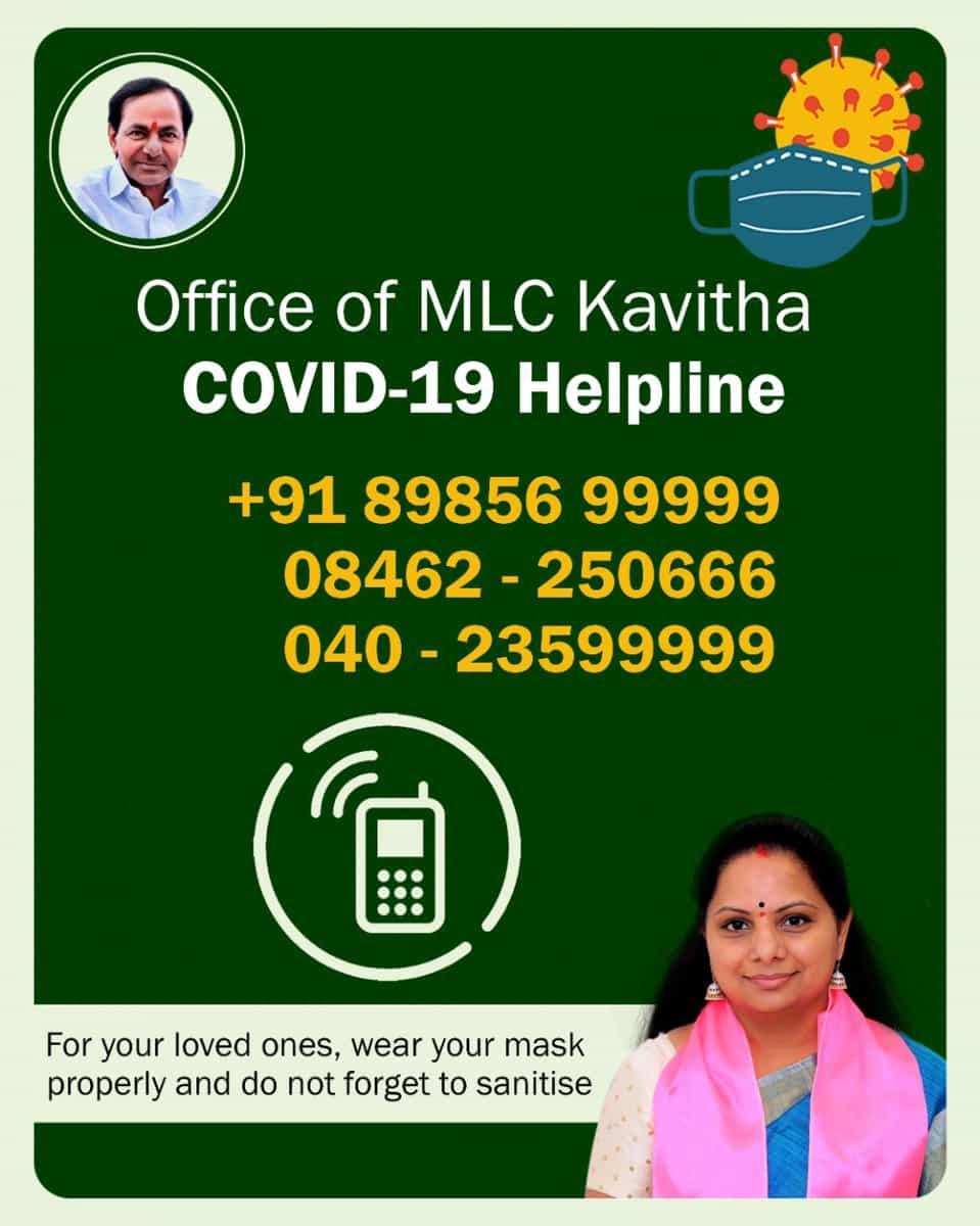 Responding to SOS calls, Kavitha sets up 24×7 COVID-19 helpline