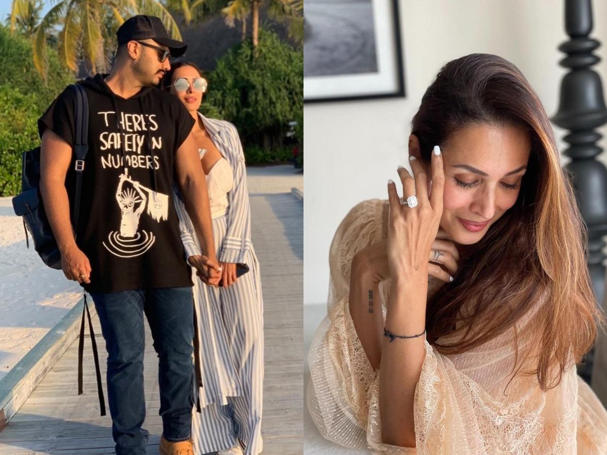 Malaika Arora poses with engagement ring; fans congratulate actress and beau Arjun Kapoor