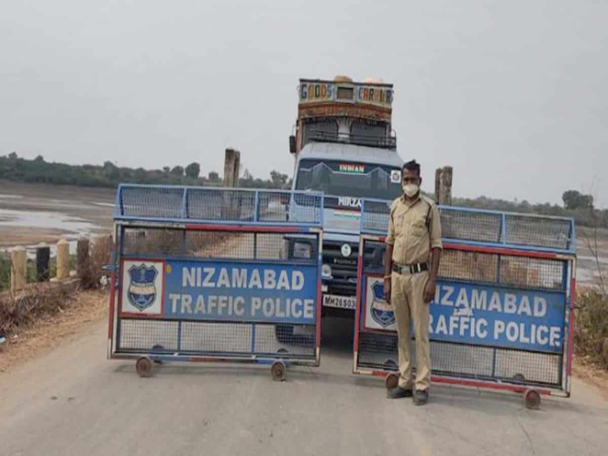 COVID-19: Telangana-Maha border sealed in Nizamabad