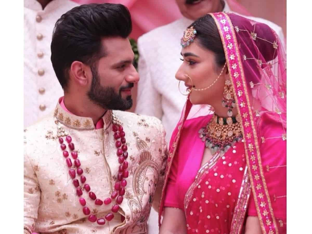 'New beginnings': More pictures of Disha Parmar, Rahul Vaidya as bride and groom go viral