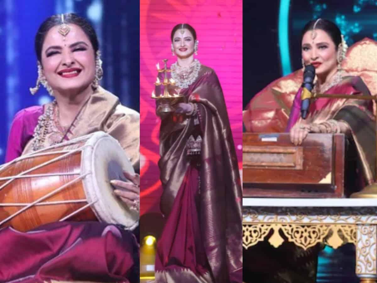 'Goddess, Apsara': Twitterati is mesmerized with Rekha's presence on Indian Idol 12