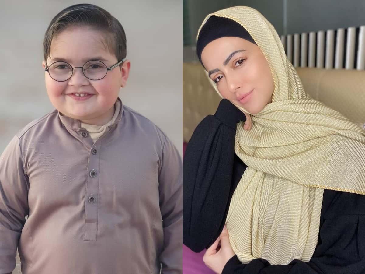 Watch: Sana Khan gets love from Pak's 'Peeche Dekho' viral kid Ahmad Shah