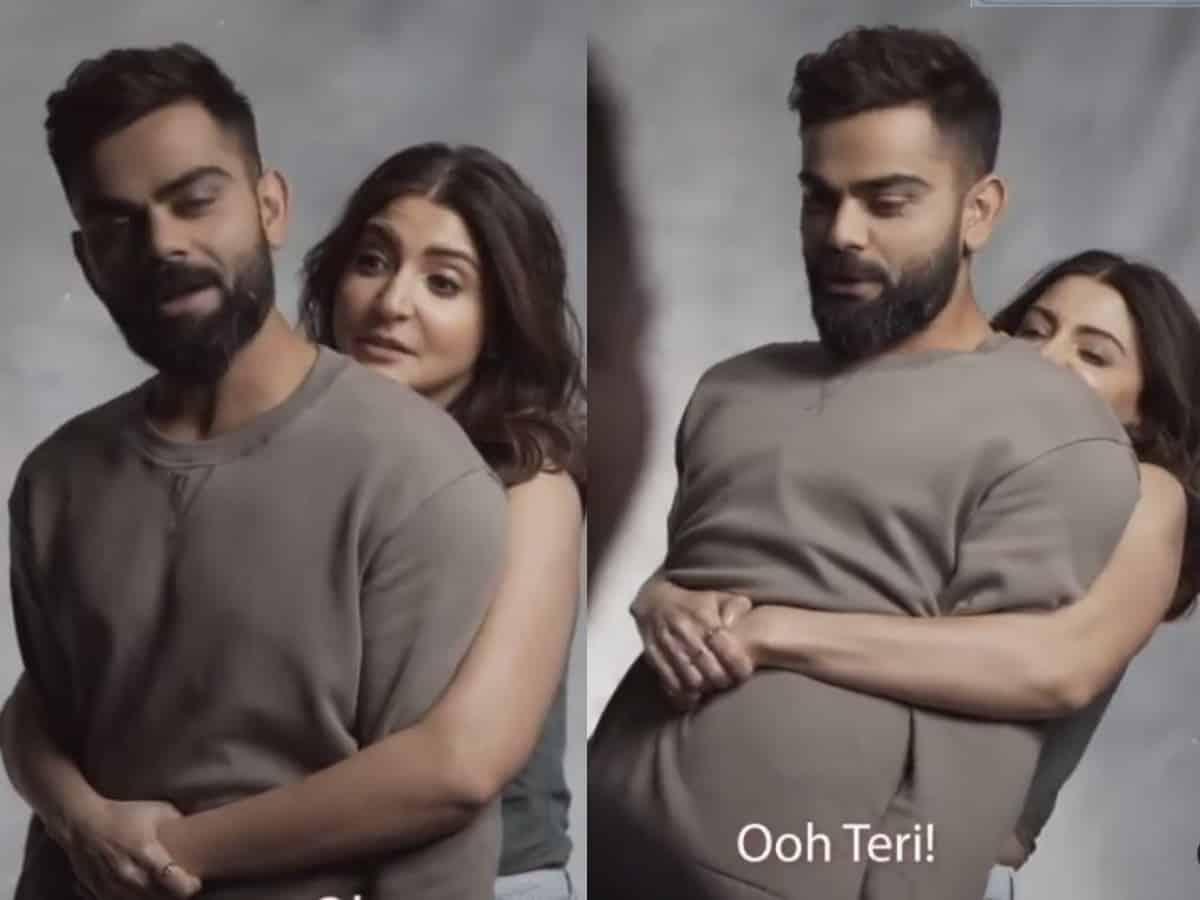 Anushka Sharma tries to lift hubby Virat Kohli, goofy video goes viral