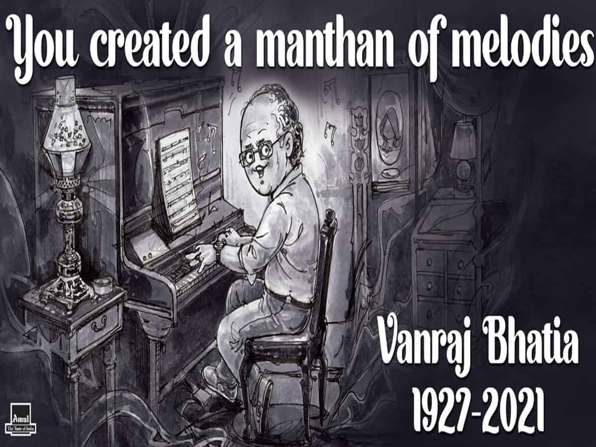 'You created a manthan of melodies': Amul pays tribute to Vanraj Bhatia