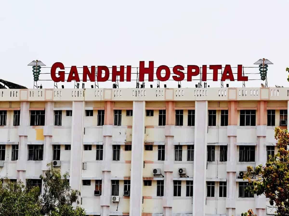 Firemen conduct mock fire drill at Gandhi Hospital